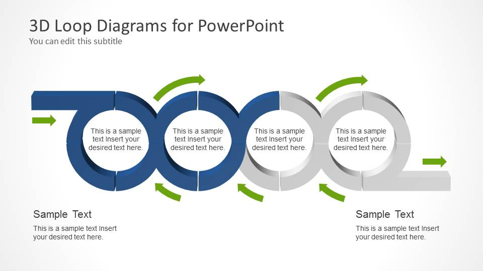 PowerPoint Template of Horizontal Chained Loops