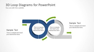 PowerPoint Diagram Featuring Two Loops