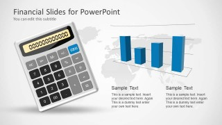 financial powerpoint template with calculator - slidemodel, Modern powerpoint