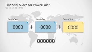 Financial Slide Design with World Map Shape