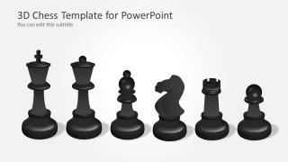 Dark Chess Set Illustration for PowerPoint