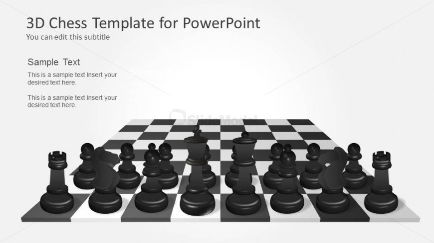 Black Chess Pieces Template for PowerPoint - SlideModel
