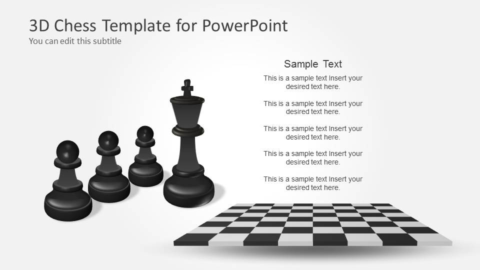 King Chess Pieces & Pawn Shapes for PowerPoint