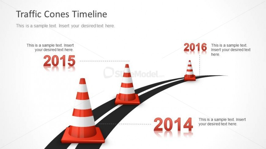 3 Traffic Cone Milestones for PowerPoint