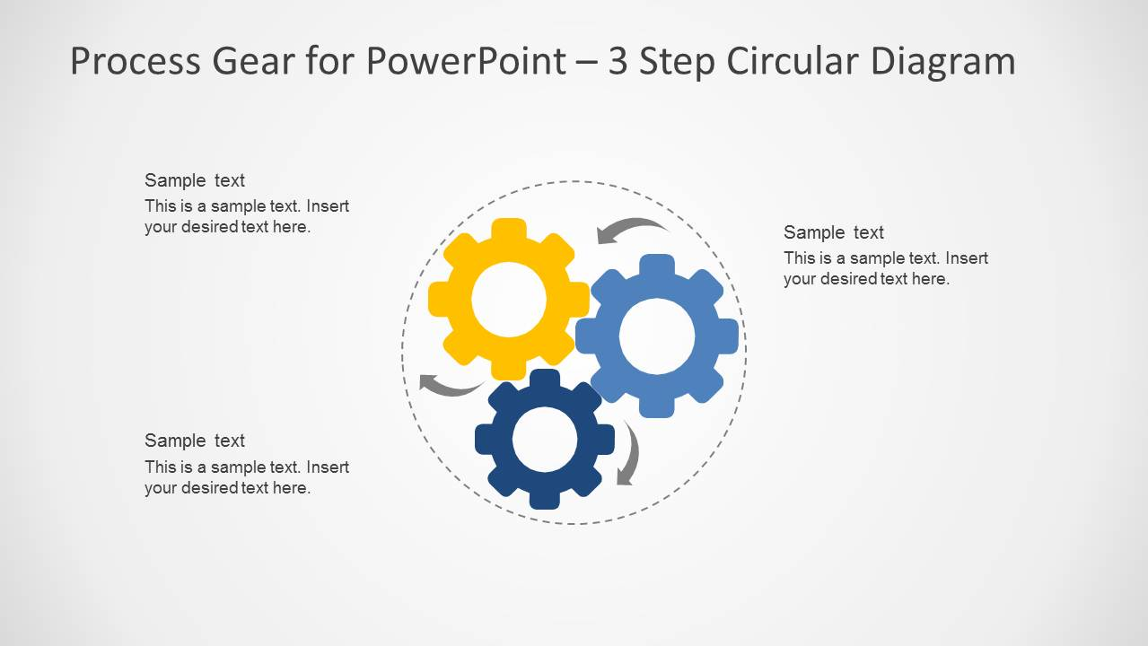 6122 01 process gear 6 process gear diagrams for powerpoint slidemodel
