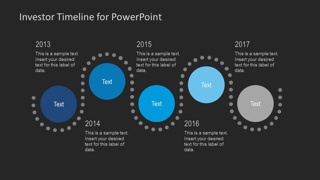 investor timeline slides for powerpoint