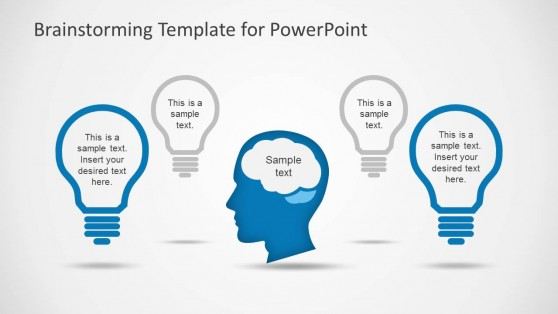 Head Brain and Lightbulb Shapes for PowerPoint