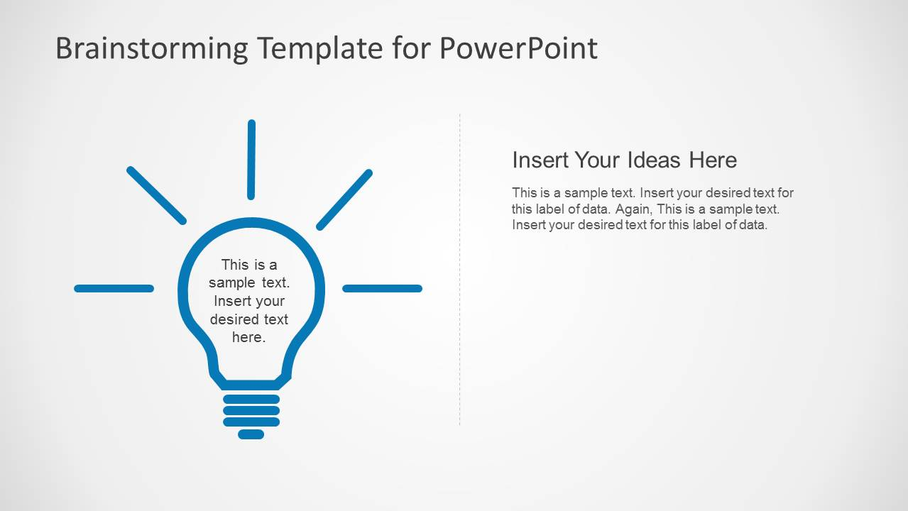 Brainstorming powerpoint template slidemodel for What is a template in powerpoint