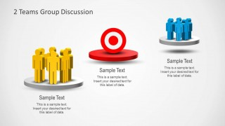 group discussions & team goals template for powerpoint - slidemodel, Presentation templates