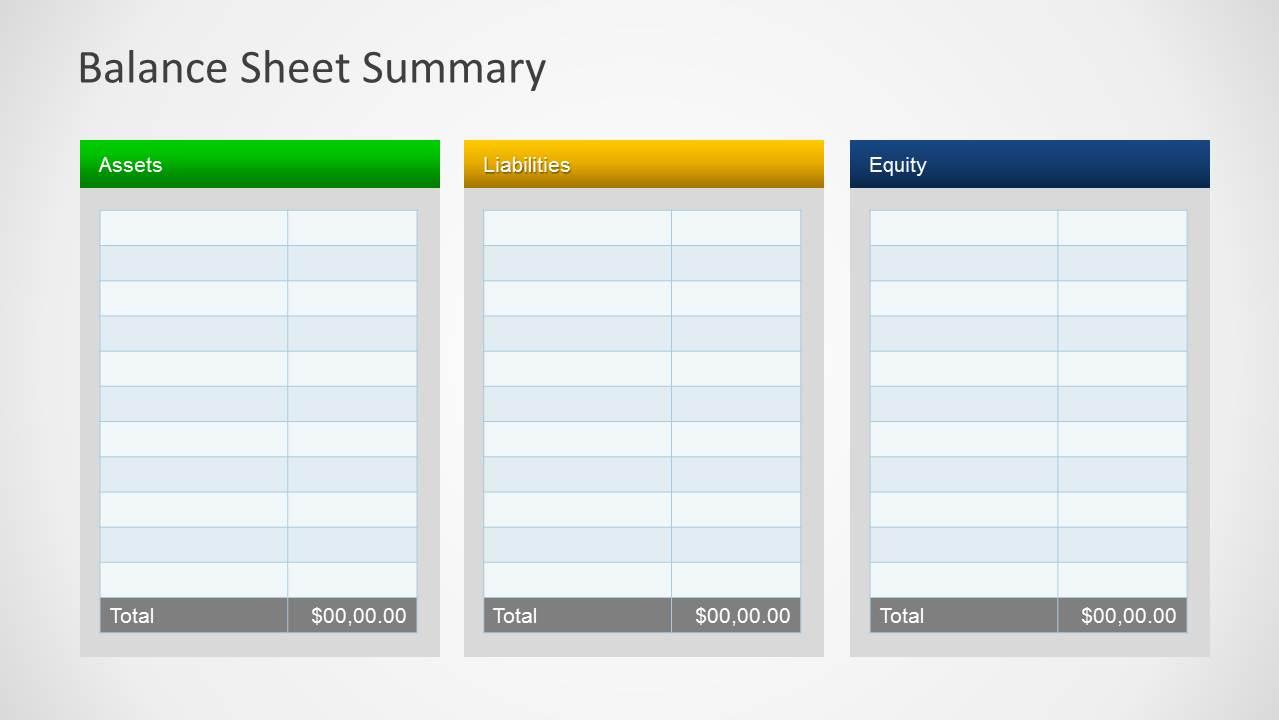 simple balance sheet powerpoint template