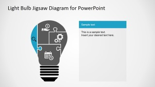 PowerPoint Slide Design of Light Bulb and Jigsaw Pieces