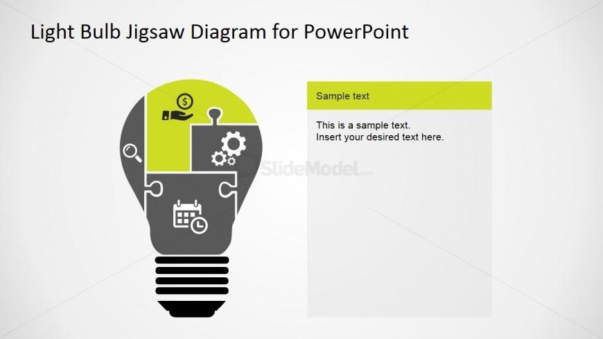 PowerPoint Slide Design Featuring Puzzle Segments
