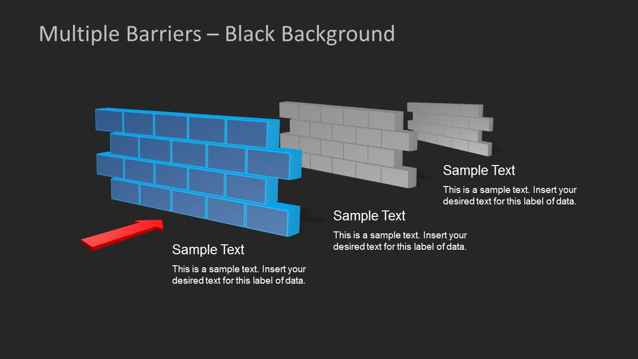 brick walls  u0026 obstacles template for powerpoint