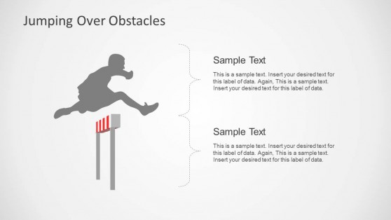 Jumping Obstacles Slide Design & Illustration for PowerPoint