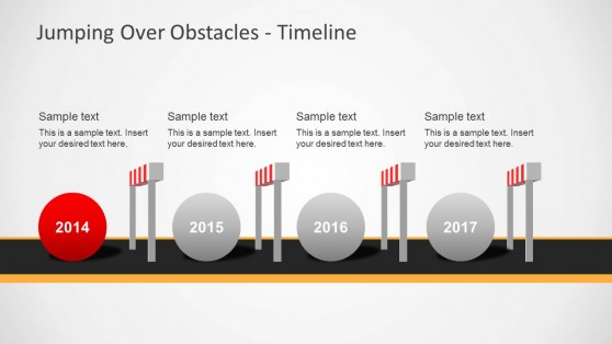 Challenges & Hurdles Timeline for PowerPoint