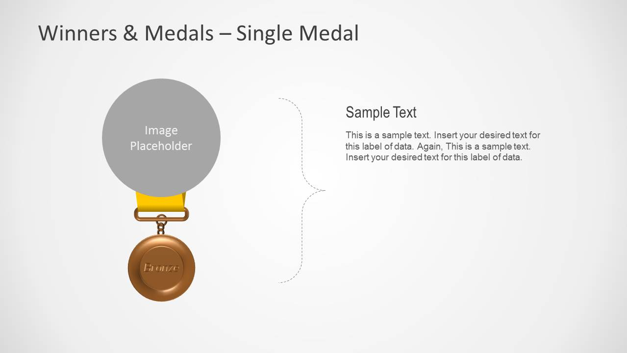Bronze Medal Shape for PowerPoint