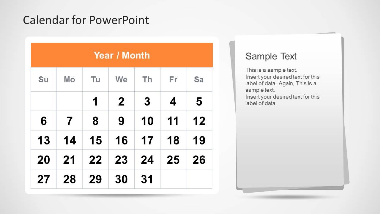 Calendar Template For PowerPoint