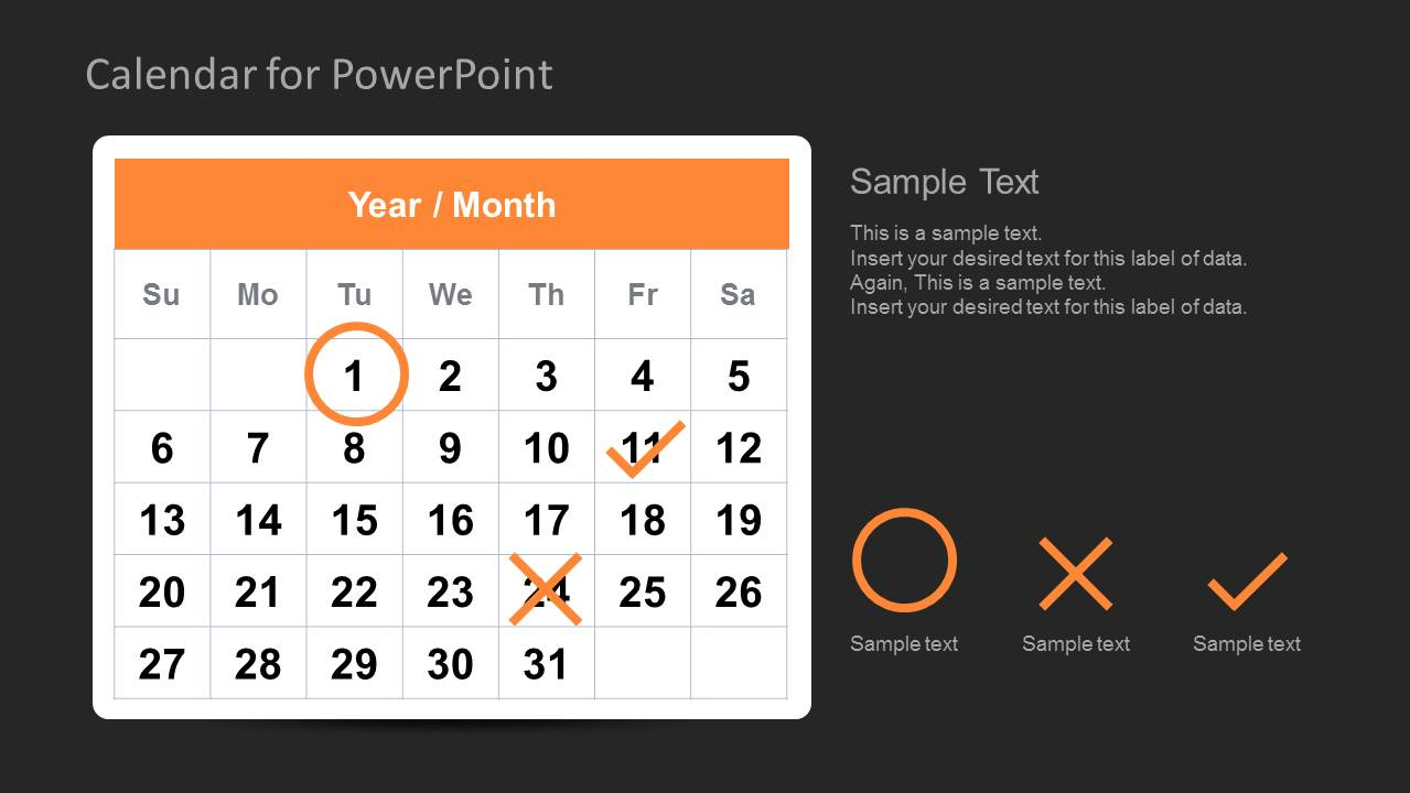 ... Calendar Template For PowerPoint Task Management