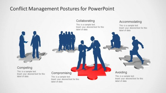 Conflict Management Business Silhouettes