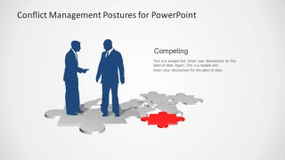 Competing Slide Design Business Postures Talking
