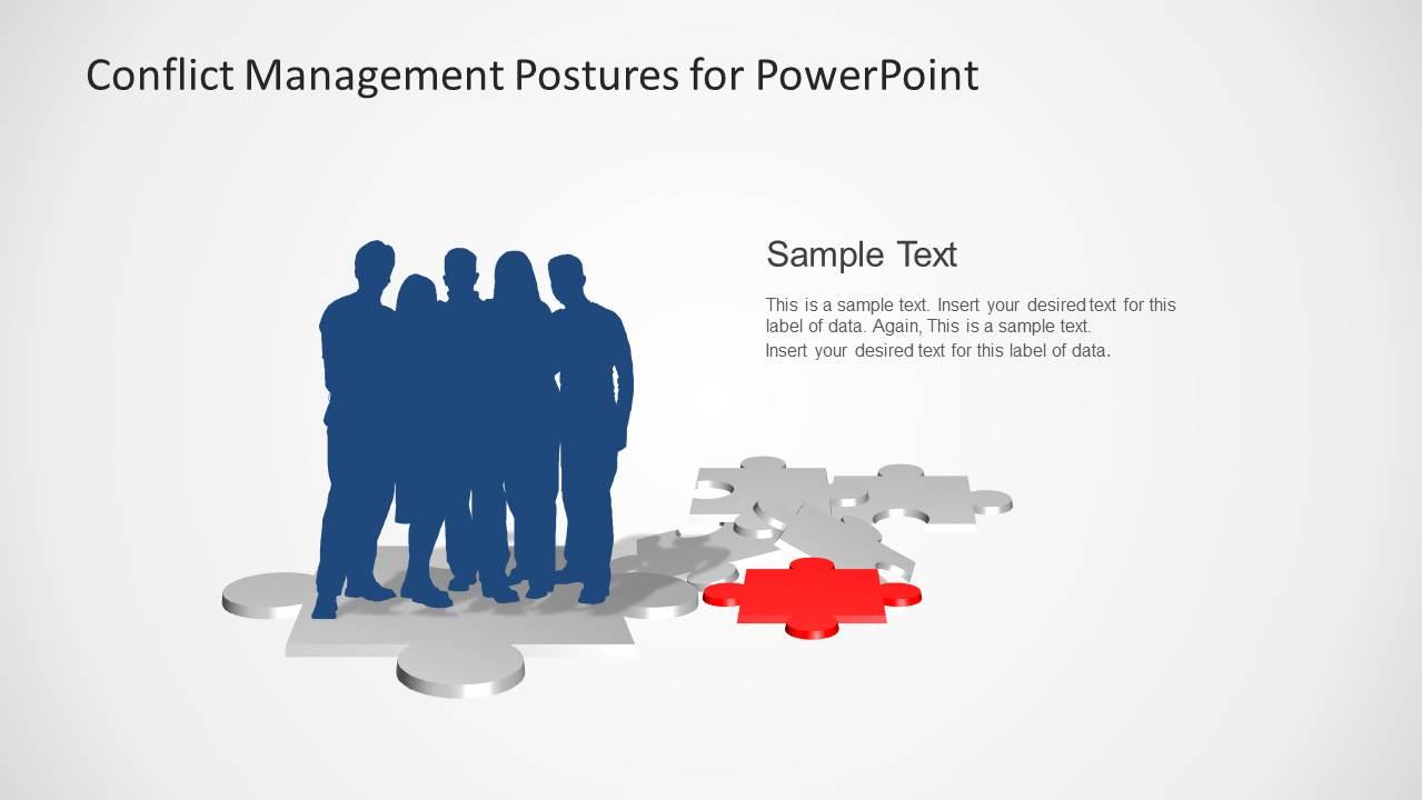 Conflict Management Posture Business Silhouettes