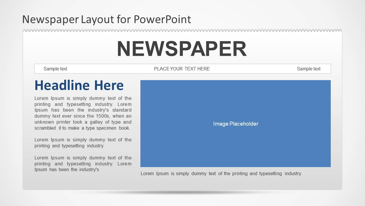 Newspaper powerpoint template slidemodel toneelgroepblik Image collections