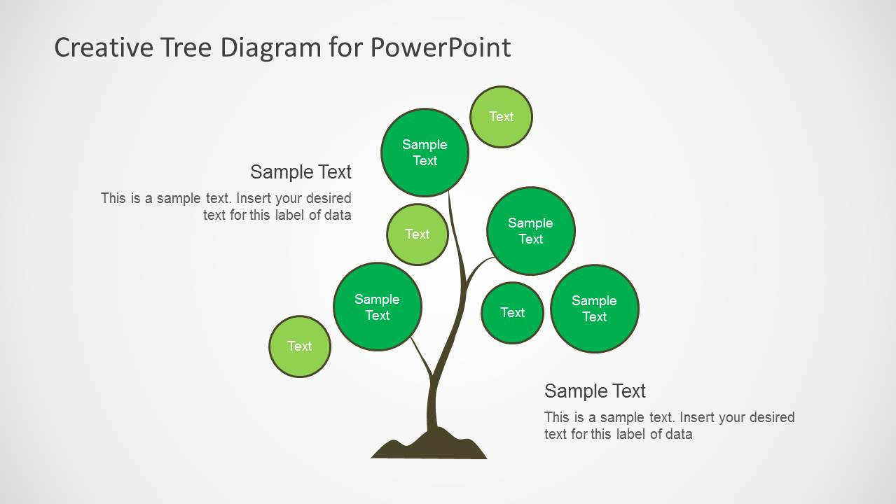 creative tree diagrams for powerpoint slidemodel