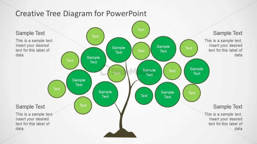 creative tree chart diagram slide design for powerpoint. Black Bedroom Furniture Sets. Home Design Ideas