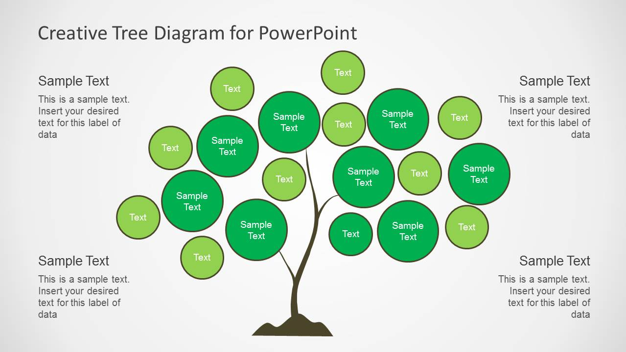 creative tree diagrams for powerpoint   slidemodel    creative tree chart diagram slide design for powerpoint
