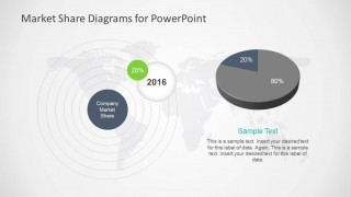 80% 20% Market Share PowerPoint Slide Design with Pie Chart