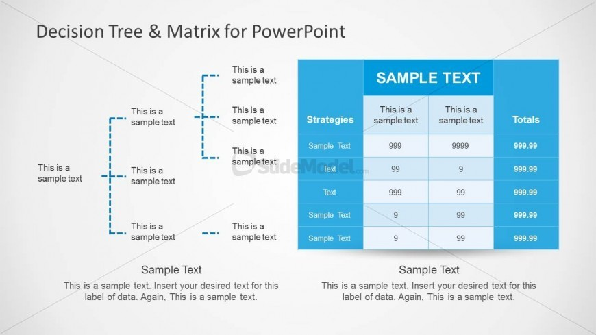 Decision Tree Matrix for PowerPoint Presentations SlideModel – Decision Tree Template
