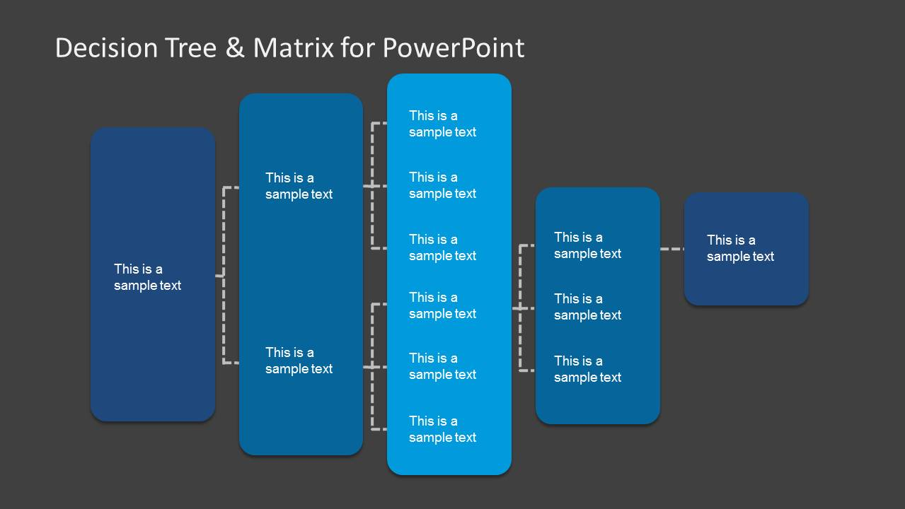 decision tree  u0026 matrix template for powerpoint