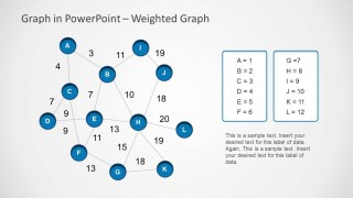 Blue Weighted Graph Slide Design for PowerPoint