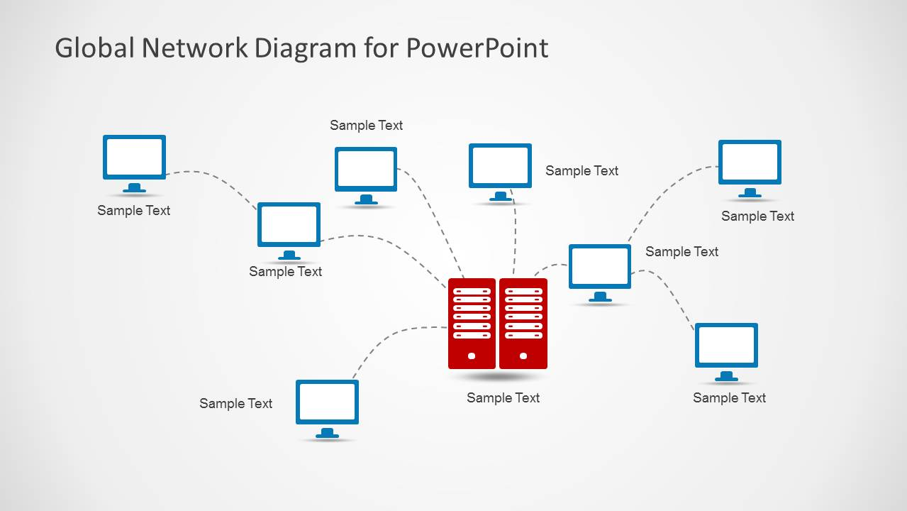 network diagram template powerpoint choice image - templates, Powerpoint templates