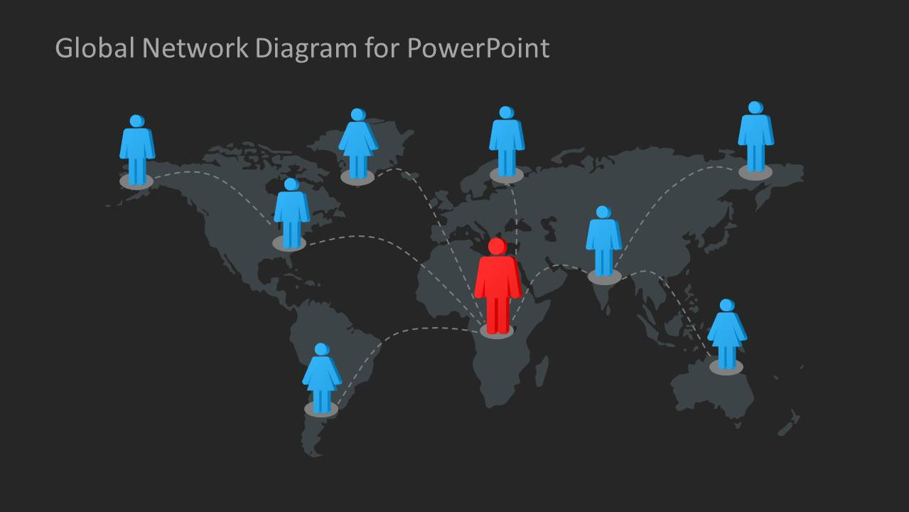 Global Network Diagram for PowerPoint - SlideModel