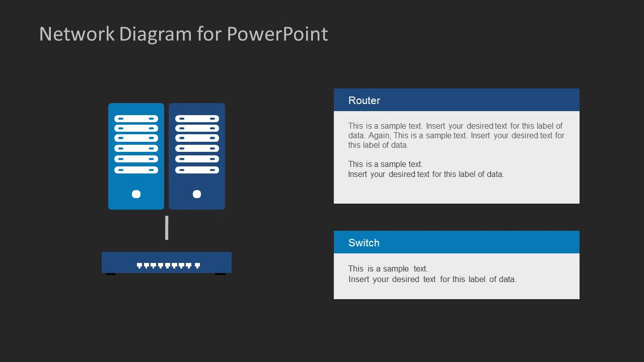 network diagram template for powerpoint slidemodel