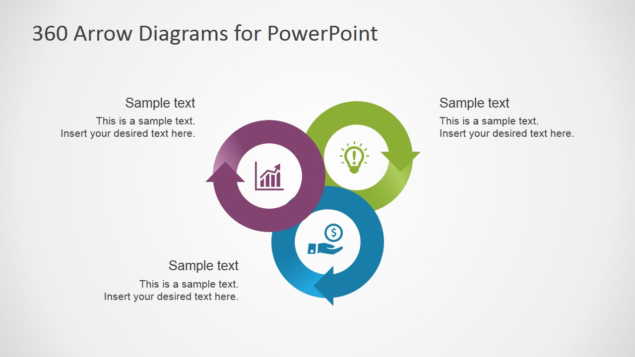 PowerPoint Circular Diagrams with Looping Arrows
