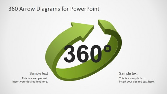 3D Arrows 360 Diagram for PowerPoint