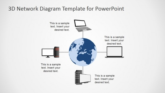World Area Network PowerPoint Diagram