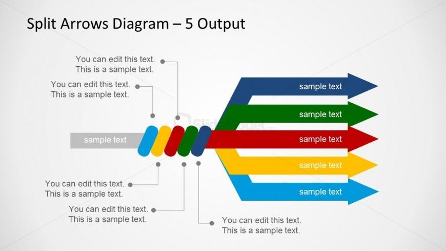 6183 02 Split Arrow Diagram 4 Slidemodel