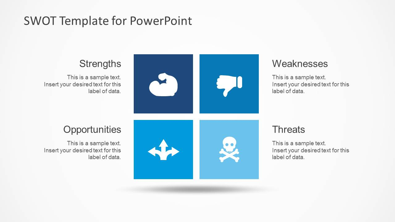 simple swot powerpoint template - slidemodel, Modern powerpoint
