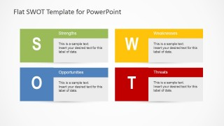 PowerPoint SWOT Model in Flat Design