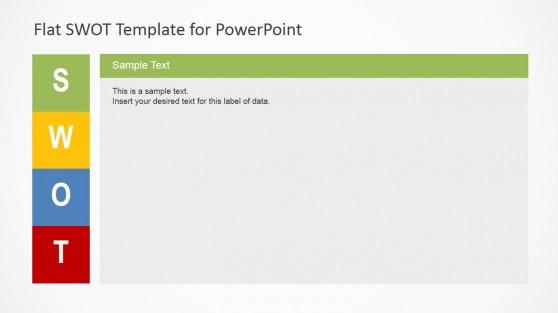 SWOT PowerPoint Template Description Slide Design