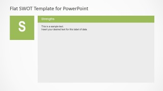 PowerPoint SWOT Analysis Template Strengths Slide