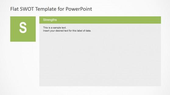 Flat SWOT Analysis Strengths Description Slide