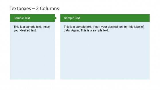 Textbox Slide Design for PowerPoint with 2 Columns