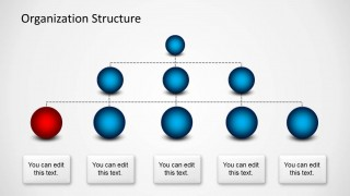 Org Chart Spheres Template for PowerPoint
