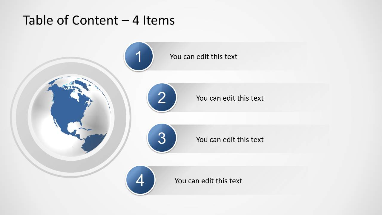 Table Of Content Slides For Powerpoint
