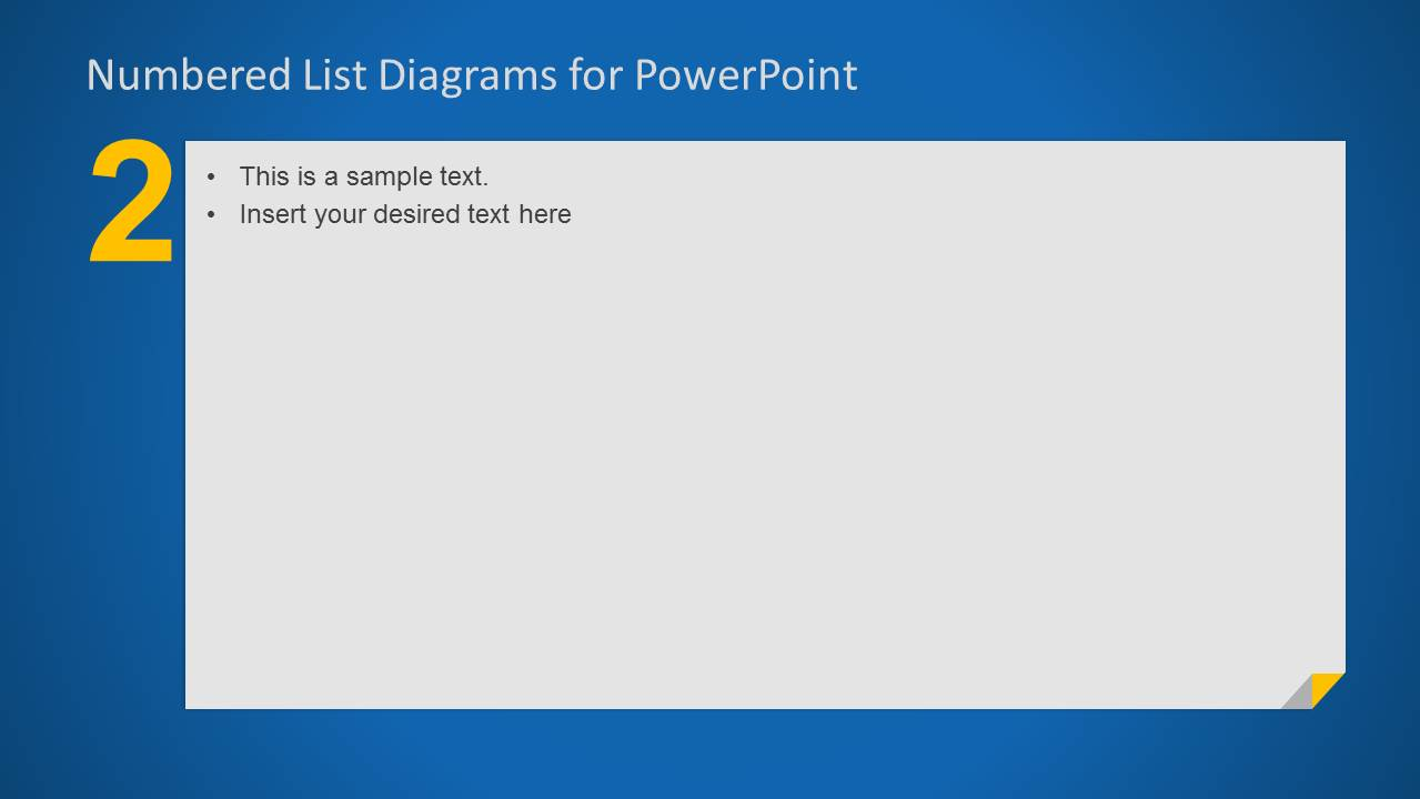 Simple Number 2 List for PowerPoint