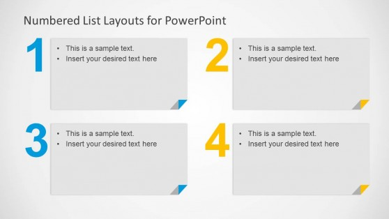 4 Numbered List for PowerPoint